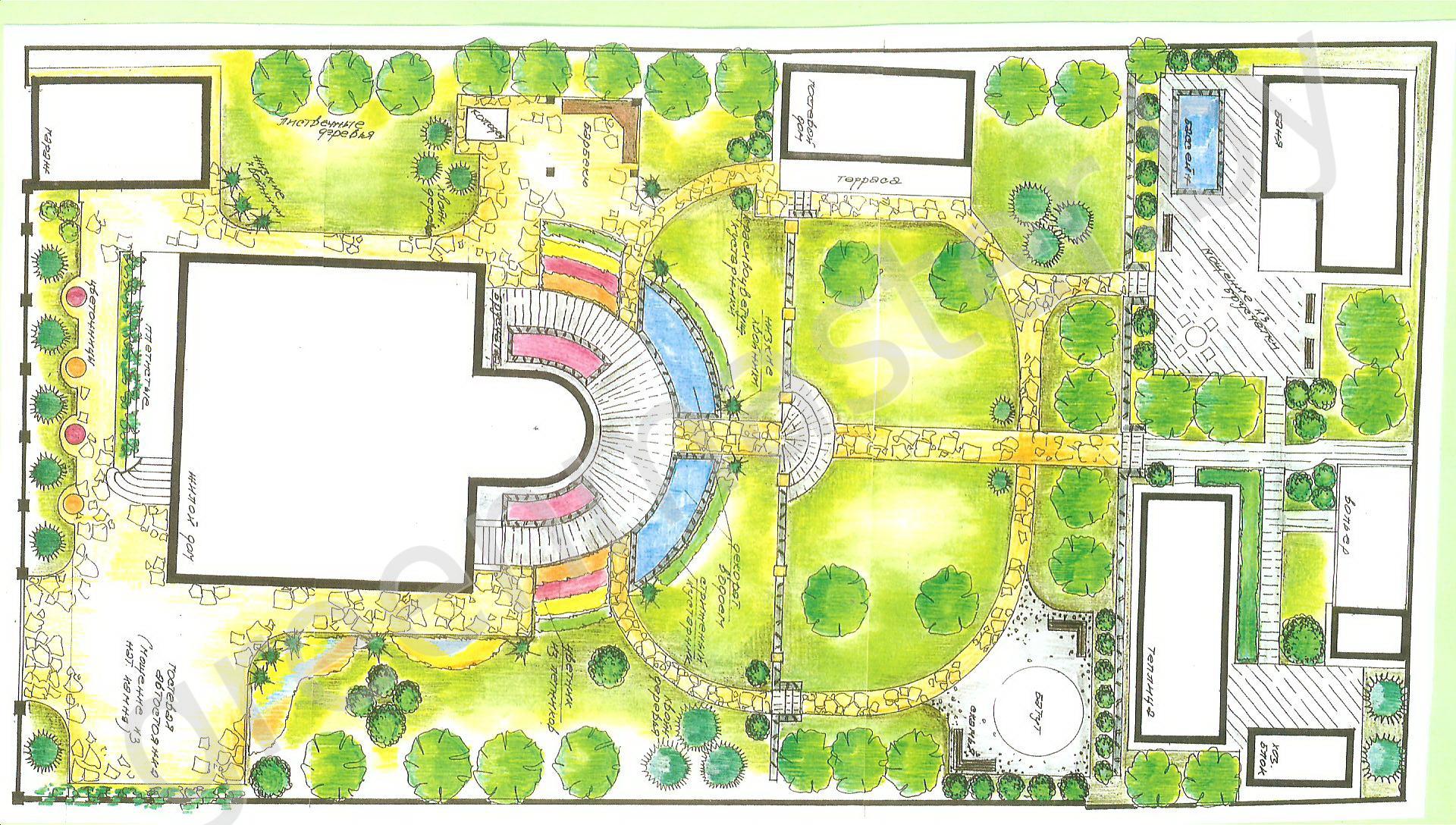 Дизайн проект маленького участка