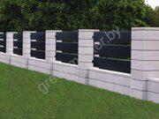 Столбы заборные из бетонных блоков 5