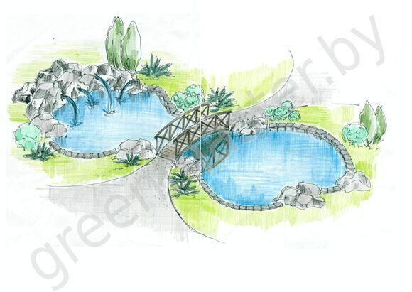 Эскиз пруд